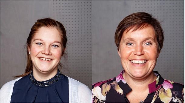 Annette Brede og Kari Åker fra fylkesstyret i Trøndelag Bondelag