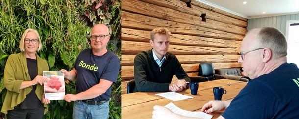Her møter Petter Harald Marit Arnstad på Mære Landbruksskole og Ola Borten Moe på Øya VGS for intervju.