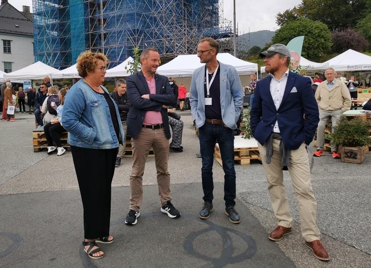 Olaug Bollestad, Geir Ove Ystmark, Anders Felde og Christian Anton Smedshaug