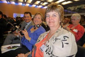 Første nestleder Berit Hundåla er styremedlem i WFO, arkivfoto: Hildegunn Gjengedal.