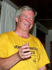 En engasjert Vidar Meldal ledet valgmøtet.