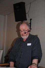 Fylkesleder Trond Ellingsbø holder tale til årsmøtet i Oppland Bondelag.