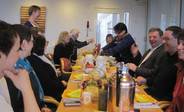 Smilet sat laust når styremedlemene i fylkesbondelaget inviterte fylkesutvalet til frukost