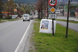 Nordre innkjøring til Lillehammer.
