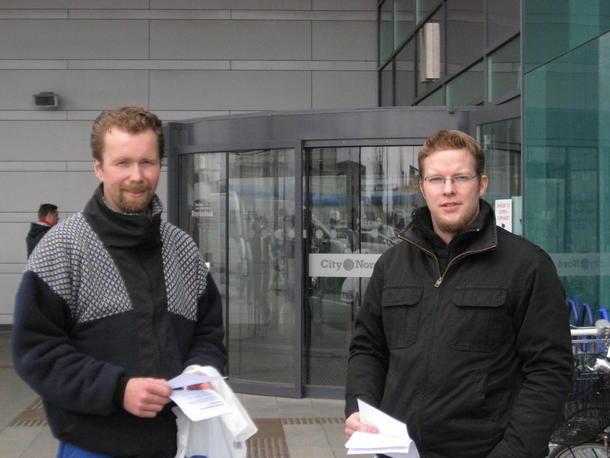 Fra Bodin Bondelag Frank Storteig og Svein Åsbakk.