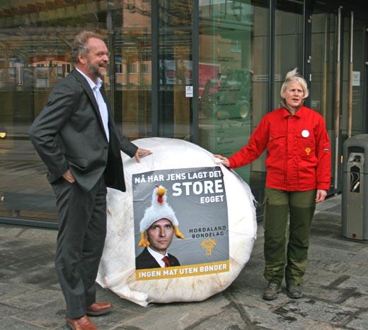 Fylkesmann Lars Sponheim og fylkesleiar i Hordaland Bondelag, Clara Hveem