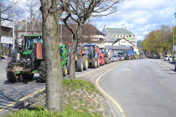 Fra traktoraksjonen på Gjøvik. Foto: Tåle Willerud