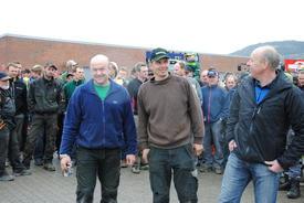 Lokallagslederne i Sør-Gudbrandsdalen var godt fornøyd med engasjementet. F.v. Erik Wedum, Håvard Kjernli og Ouden Wasrud.