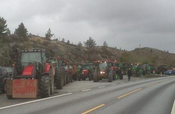 Traktortog på E39.
