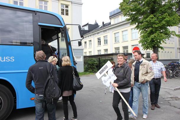 Før bussavgang i Drammen.