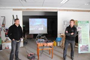 Trond Engeland fra Gausdal Vgs og Hans Olav Egge fra Valle orienterte om anleggsgartnerfaget.