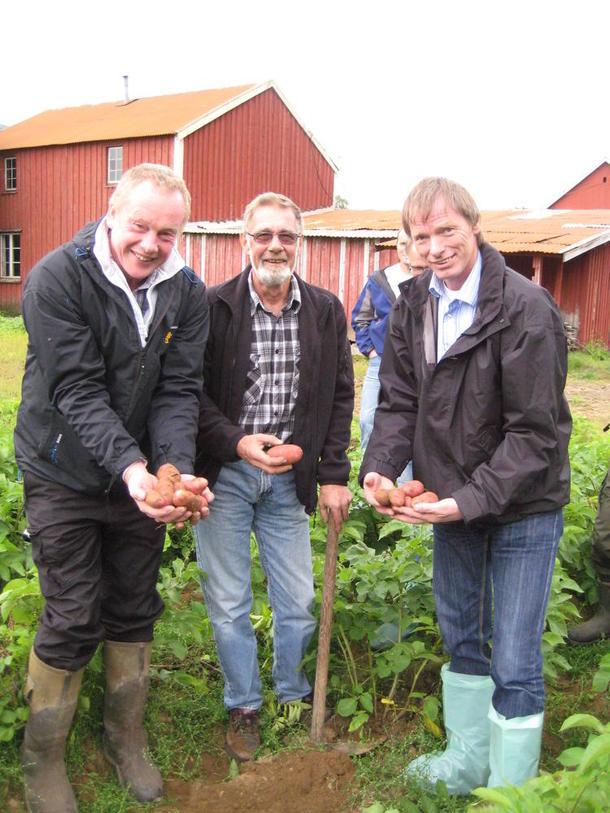Fra venstre Bernt Skarstad, Erik Paulsen og Kåre Holand