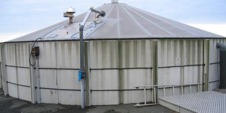 Biogassreaktor.