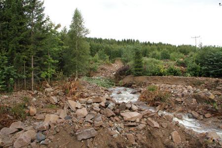 Flommen har gjort stor skade i Øvre Eiker. Foto: Per Olav Krekling.