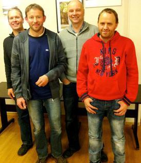 Det meste av styret i Stryn Bondelag: F.v. Bjørn Rørtveit, Jørgen Fure, Lars Henrik Skår og Stig Tore Hoem