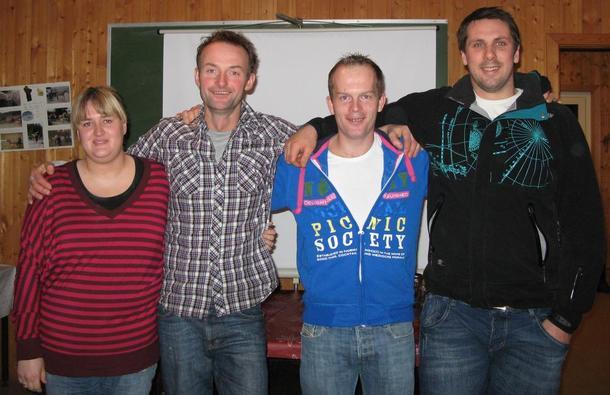 Medlemer i styret i Breim Bodnelag. F.v.  Connie Grindheim, leiar Anders Felde, Geir Thomas Myklebust og Jens Jacob Bergheim