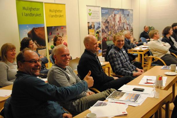 Tommelen opp for landbruket, her v/Magne Mjøs sammen med Ole Kristian Oldre, Helge Lajord og Per Høvren