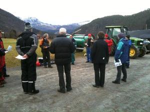 Kolbjørn Taklo, frå HMS i landbruket, informerer dei frammøtte