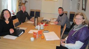 Valnemnda gjennomførte samtaler med sitjande styre i møte i Gloppen sist veke. F.v. Anne Moen, Lars Egil Viken, Per Gunnar Gilleshammer og Henny Karin Molland Skildheim