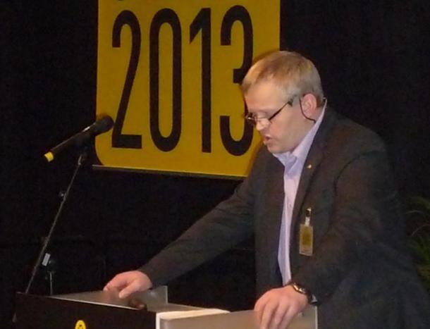 Bondelagsleiar Nils T. Bjørke under opninga av Storfe 2013, foto: Amund Johnsrud.