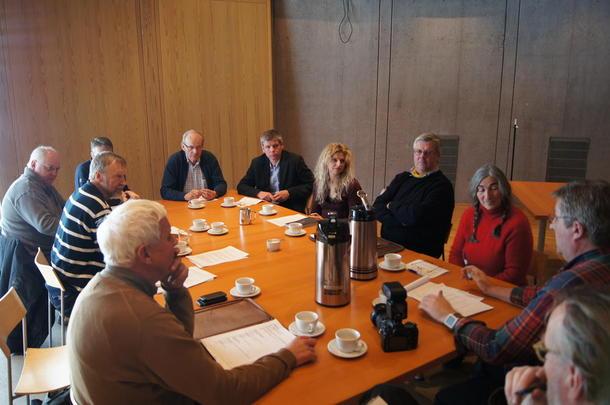 Fra pressekonferansen som Knutepunkt Horten Vest og Snøhetta holdt torsdag på Midgard historiske senter i Horten