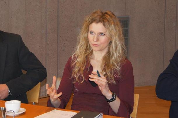 Maria Svaland, seniorarkitekt hos Snøhetta og prosjektleder for Snøhettas mulighetsstudie for Skoppum