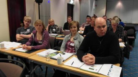 Deltagere på Unge Bønder kurset 2013