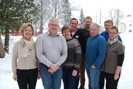 Styret ved (fra venstre) Anne Kristine Rossebø, Einar Myki, Merete Grimsbo, Thomas C Meyer French, Eivind Mehl, Karstein Hove Bergset, Jon Einar Hulleberg og Inger Amb har levert sine innspill til jordbruksforhandlingene.