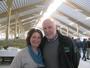 Svend Arild Uvaag og kona Gunn i nyfjøset som ble presentert for allmennheten fredag 15. mars 2013.