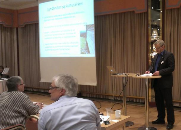 Bondelagsleder Nils T. Bjørke på verdiskapingskonferanse i Lillehamer, foto: Kari Marte Sjøvik.