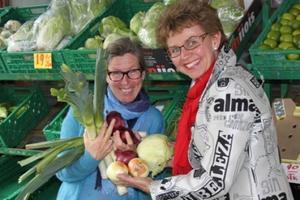 Generalsekretær Cecilie Aurbakken og leder Kathrine Kleveland i Norges Bygdekvinnelag, foto: Bygdekvinnelaget