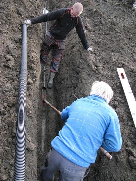 Nedlegging av grøfter. Foto: Anne Grete Rostad