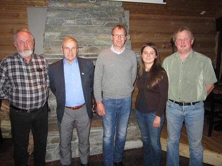 Fra venstre: Trond Ellingsbø, Terje Holen, Jon Lerhol, Hanne Blåfjelldal og Henrik Grøndalen
