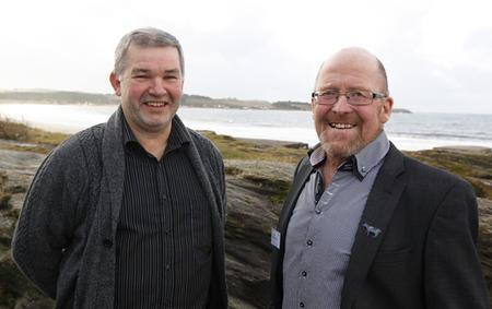 Ola Andreas Byrkjedal og Asbjørn Helland innledet for fylkeslagene i Rogaland og Nord-Trøndelag på Solastrand.