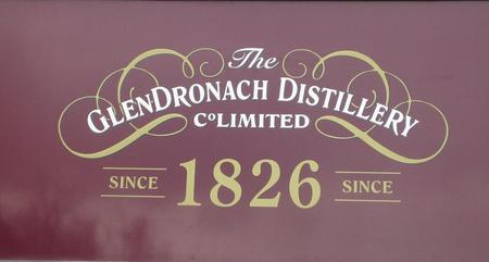 Dørskiltet til Glendronach Distillery