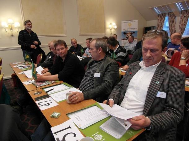 Svein Henning Tennes fra Kystpartiet var gjest under ledermøtet vårt i år.