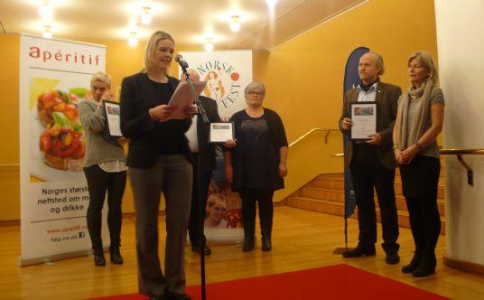 Landbruks- og matminister Sylvi Listhaug sto for utdelingen av prisene, foto: LMD.