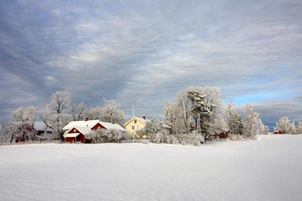 Vinterlandskap på Hadeland. Foto: Jørgen Skaug