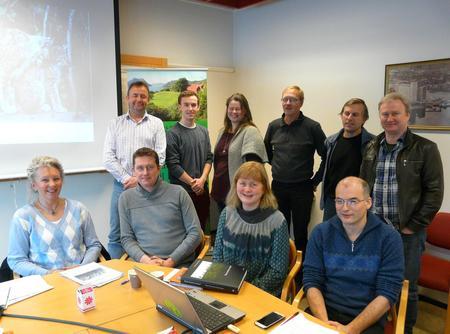 Fylkesstyret i Møre og Romsdal Bondelag drøfta rovviltpolitikk 21. januar 2014 (Foto: Arild Erlien)