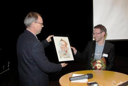 Ny og avtroppende styreleder, Sigurd Enger og Odd-Einar Hjortnæs