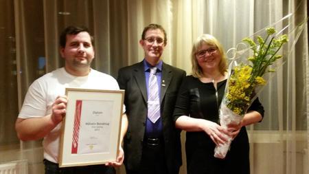 Fra venstre Bjørn Kvammen, Asgeir Slåttnes og Mette Pedersen Anfeltmo