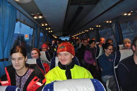 Busslast med nye og unge bønder i 2014