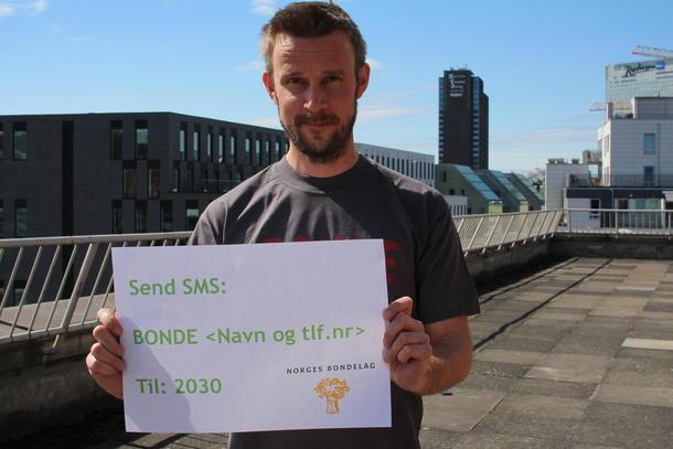 Rådgiver i Norges Bondelag, Andreas Lunder. Foto: Marte Haugdal