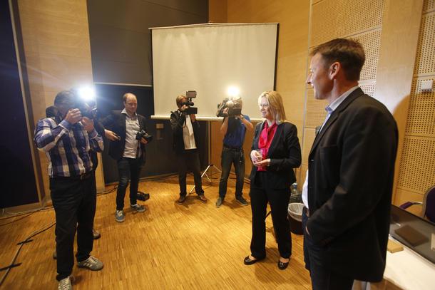 Sylvi Listhaug og Lars Petter Bartnes møttes første gang på årmøtet i Norges Bondelag i juni, der Bartnes ble valgt som ny leder.