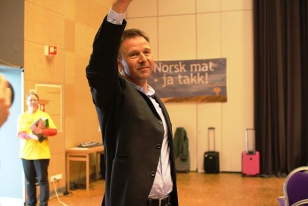 Lars Petter Bartnes som nyvalgt leder på bondetinget i år.