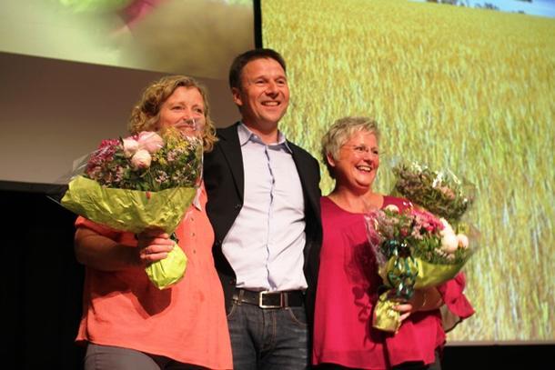 Den nye ledertrioen i Norges Bondelag. Kristin Ianssen, Lars Peder Bartnes og Brita Skallerud.