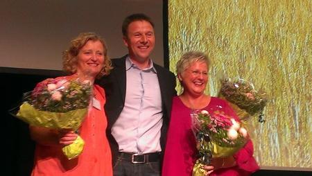 Kristin Ianssen, Lars Petter Bartnes og Brita Skallerud ved valget i 2014.