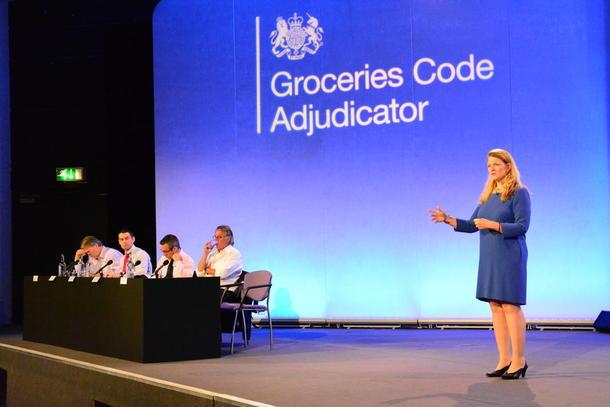 Christine Tacon presenterte denne veka den fyrste årsrapporten om tilstanden i den britiske daglegvarebransjen.