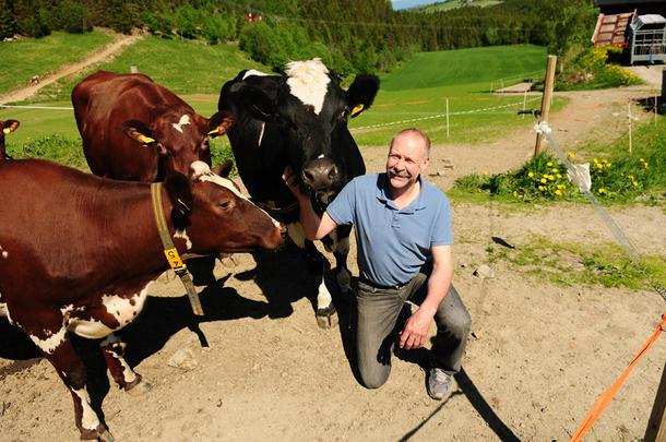 Olav Vasseljen har 25 melkekyr og planlegger nytt fjøs, men endringa i arveavgifta ble et skjær i sjøen i forhold til det planlagte generasjonsskiftet.