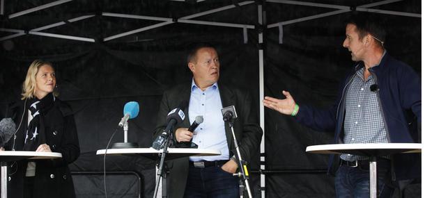 Landbruks- og matminister Sylvi Listhaug og bondelagsleder Lars Petter Bartnes møttes til sin første duell under Agrisjå, ledet av Øystein Syrstad.